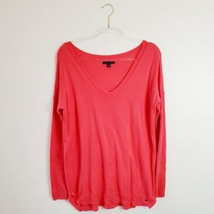 American Eagle Outfitters Coral Pink Vneck Sweater